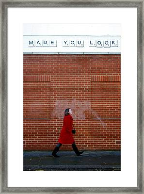 Made The Barber Cut Your Hair Framed Print by Jez C Self
