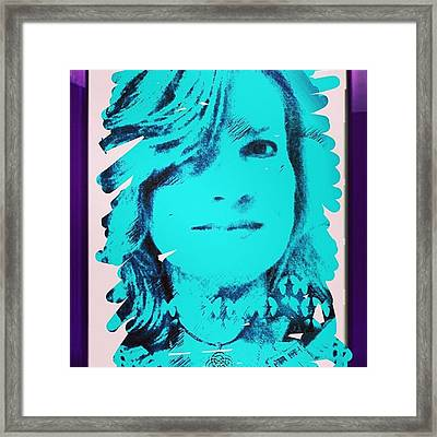 Made This Digital Self Portrait Framed Print by Genevieve Esson
