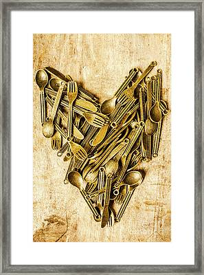 Made With Love Framed Print