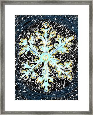 Madeline Snowflake Framed Print