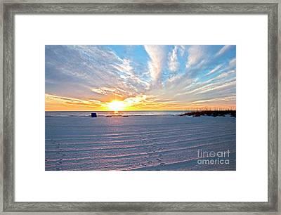 Madera Beach Sunset Framed Print
