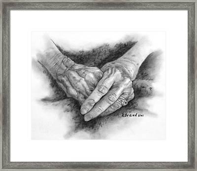 Madges Hands Framed Print