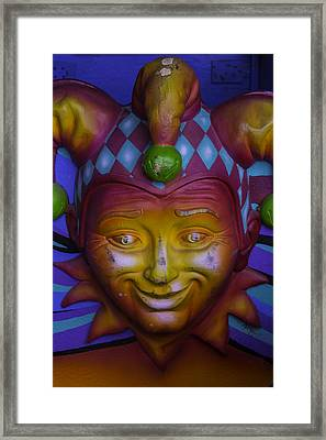 Madi Gras Jester Framed Print by Garry Gay