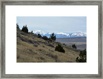 Madison Buffalo Jump State Park In Spring Framed Print by Bruce Gourley