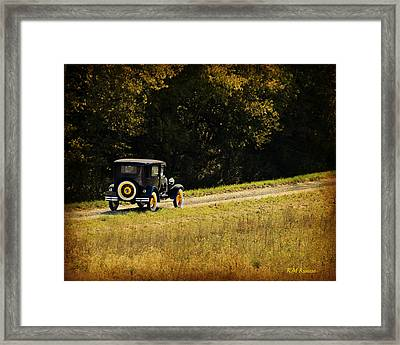 Madison County Back Roads-ford Framed Print by Kathy M Krause