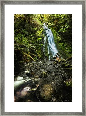 Framed Print featuring the photograph Madison Falls - An Elwha Sanctuary by Expressive Landscapes Fine Art Photography by Thom