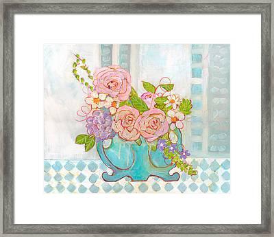 Madison Rose Flowers Framed Print by Blenda Studio