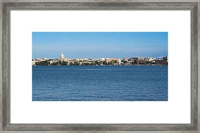 Madison Skyline From Picnic Point Framed Print