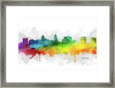 Madison Skyline Mmr-uswima20 Framed Print