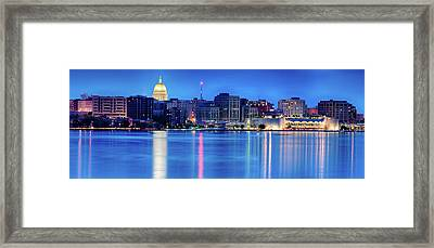 Madison Skyline Reflection Framed Print