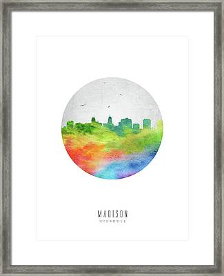 Madison Skyline Uswima20 Framed Print