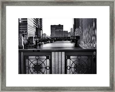 Madison Street Bridge - 3 Framed Print by Ely Arsha