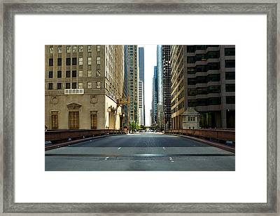 Madison Street Bridge - 4 Framed Print by Ely Arsha