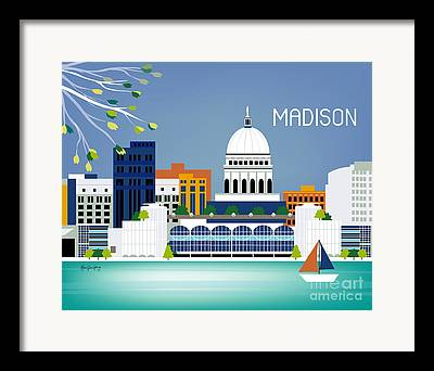Madison Digital Art Framed Prints
