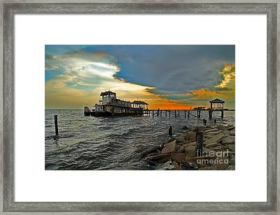 Framed Print featuring the photograph Madisonville Katrina Ghost Boat  by Luana K Perez