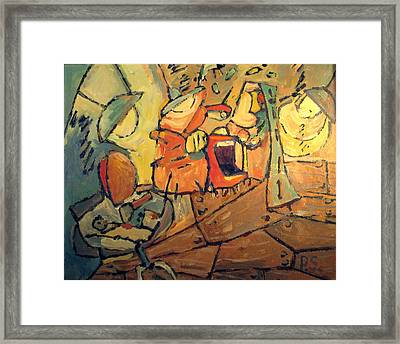 Madness In The Studio 2 Framed Print by Charlie Spear