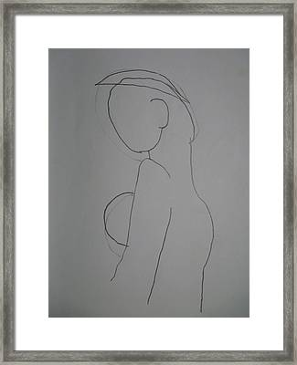Framed Print featuring the drawing Madona by Beto Machado
