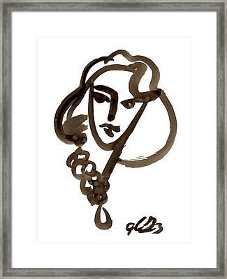 Madona Framed Print