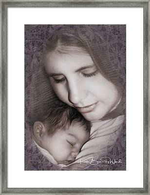 Framed Print featuring the photograph Madonna And Child 3 by Kate Word