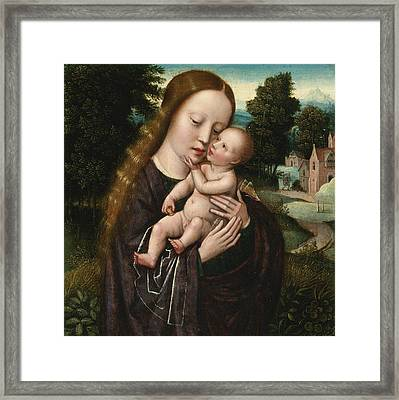 Madonna And Child Framed Print by Ambrosius Benson