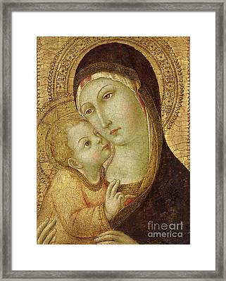 Madonna And Child Framed Print by Ansano di Pietro di Mencio
