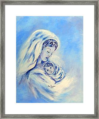 Madonna And Child By May Villeneuve Framed Print
