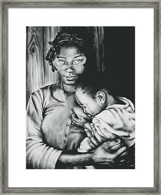 Madonna And Child Framed Print by Curtis James
