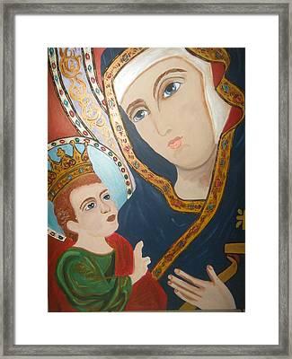 Madonna And Child Framed Print by Demetria Kelley