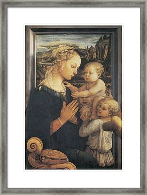 Madonna And Child Framed Print by Fra Filippo Lippi