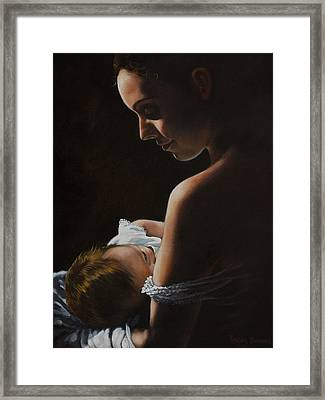 Madonna And Child Framed Print by Harvie Brown