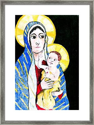 Madonna And Child Framed Print by Jame Hayes