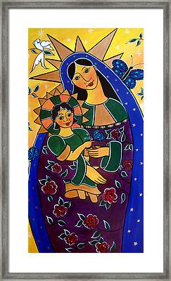 Framed Print featuring the painting Madonna And Child by Jan Oliver-Schultz