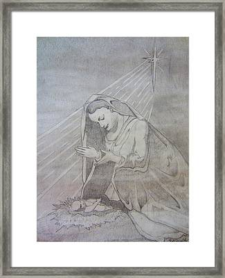 Madonna And Child Framed Print by Scott Murphy