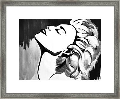 Madonna Framed Print by Cat Jackson