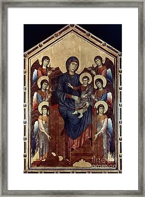 Madonna & Child In Majesty Framed Print by Granger