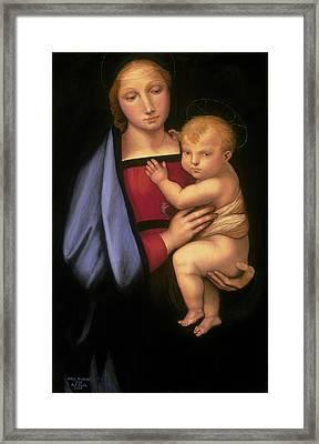 Madonna Del Granduca Framed Print by Rebecca Poole