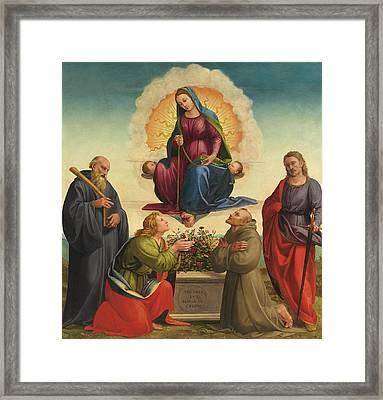 Madonna Delle Cintola Framed Print by Francesco Granacci