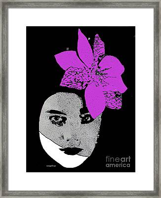 Madonna Girl Framed Print by Nancy Mergybrower