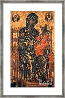Madonna Icon, 13th Century Framed Print by Granger