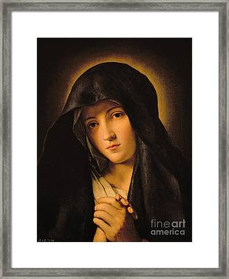 Madonna Framed Print by Il Sassoferrato