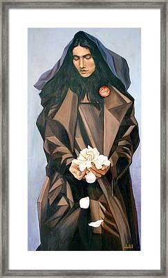 Madonna Framed Print by Ixchel Amor