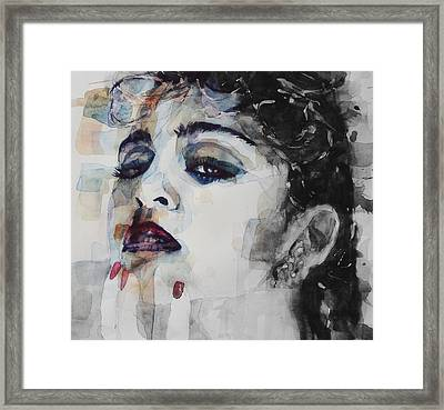Madonna  Like A Prayer Framed Print by Paul Lovering