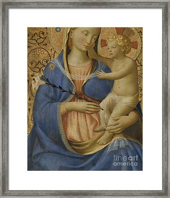 Madonna Of Humility Framed Print by Fra Angelico