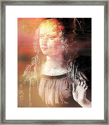 Madonna Of The Annunciation Framed Print by Leonardo In Digital