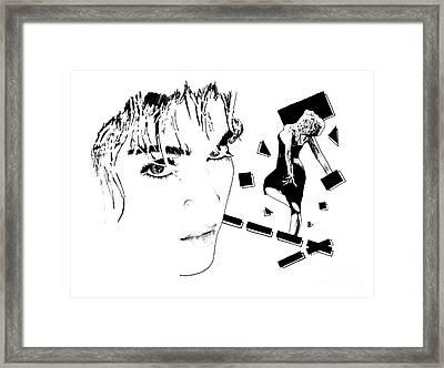Madonna Portrait, Pencil Drawing Framed Print by Pablo Franchi