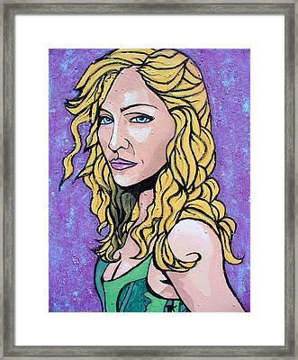 Framed Print featuring the painting Madonna by Sarah Crumpler