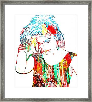 Madonna Watercolor Framed Print by Dan Sproul