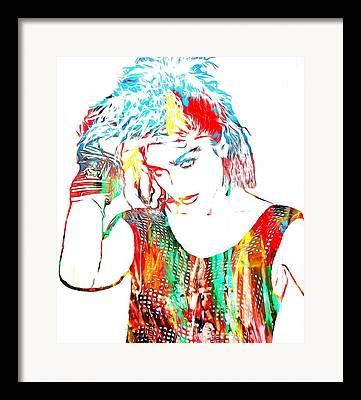 80s Hair Framed Prints
