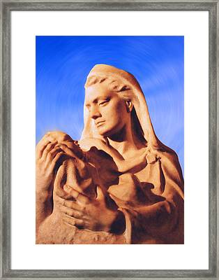 Madonna With Christ Child Framed Print by Kristin Elmquist