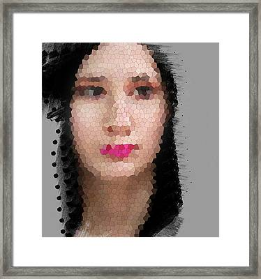 Madonna With Red Lips Framed Print